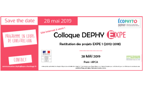 28-05-2019 - Colloque National DEPHY EXPE à l'APCA